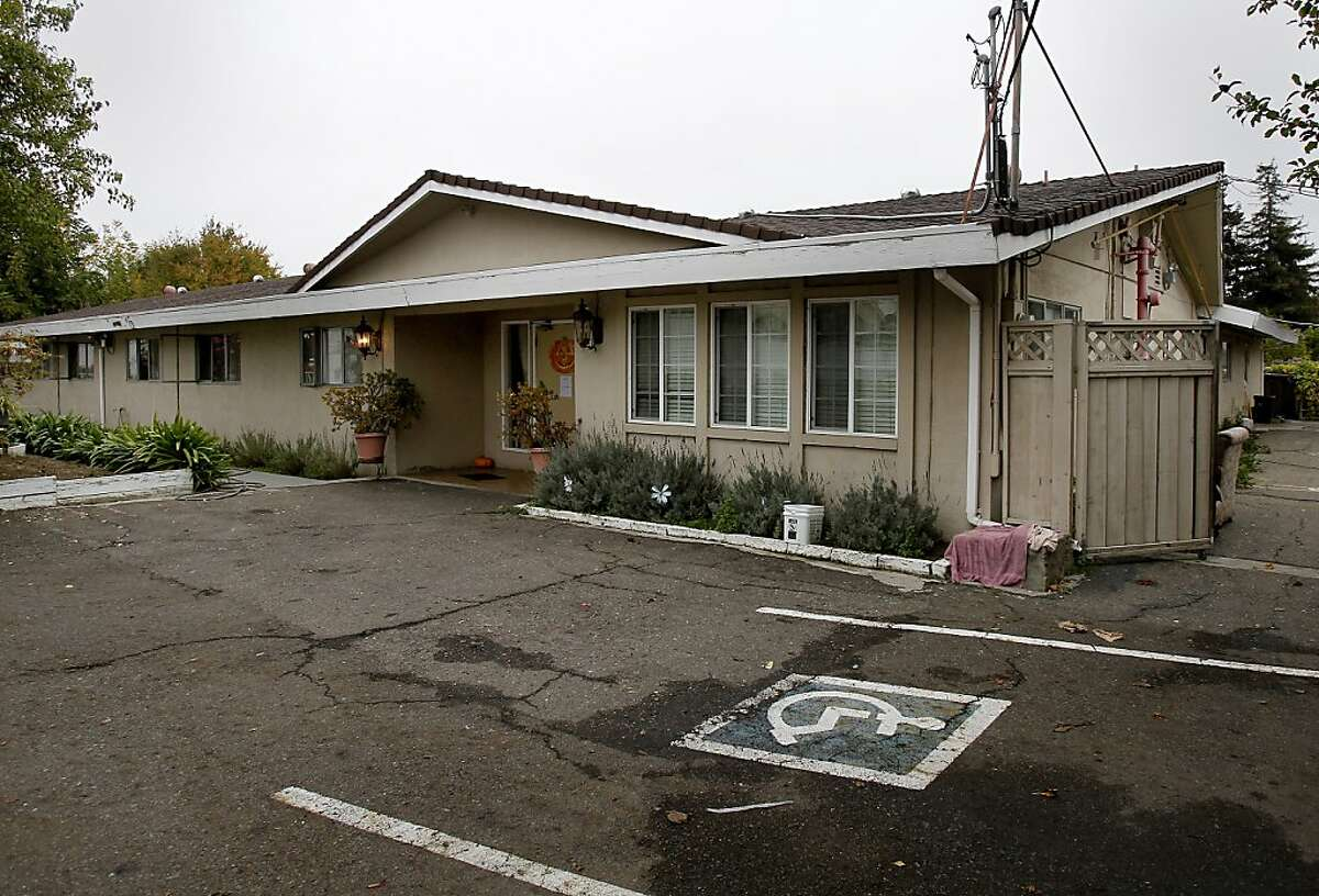 The Valley Manor facility was locked up and vacant Sunday October 27, 2013 in Castro Valley, Calif. The Valley Manor Community Care Home was shut down by the state and residents taken to local hospitals after much of the nursing staff left.