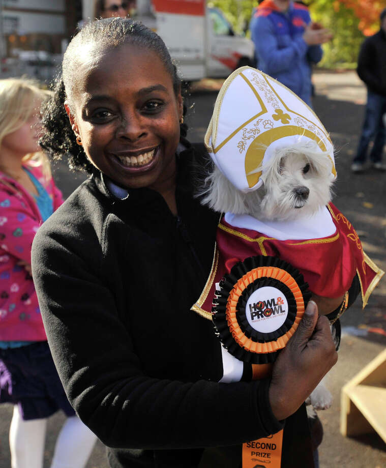 The Adopt-A-Dog and Pet Pantry Warehouse's Howl and Prowl Costume Party took place at Greenwich Commons Park in Greenwich, Conn., on Sunday, Oct. 27, 2013. Photo: Jason Rearick / Stamford Advocate