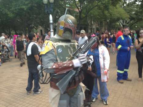 Zombie Fett makes at appearance at Zombie Walk. Photo: Ben Olivo