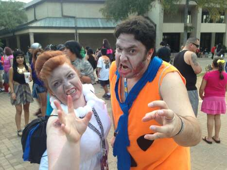 Tara Prososki and Jerry Verastegui are an undead Wilma and Fred Flintstone. Photo: Ben Olivo
