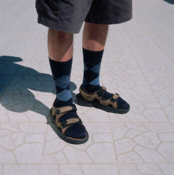 Sandals. This was a trick to test you. Anyone wearing sandals, especially men wearing socks and sandals, usually are eaten first. Photo: Ray Pietro, Getty Images  / (c) Ray Pietro