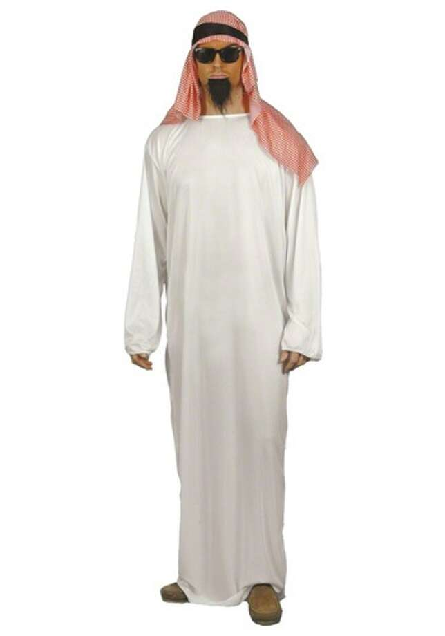 This costume qualifies as a cultural stereotype that belittles a group of people and makes light of the political and social turmoil in the Middle East. Photo: Photo From Halloweencostumes.com.