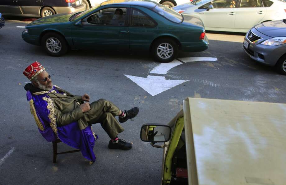 King Kobbler waits for the next customer to waive him down on Bryant Street in San Francisco, Calif. Photo: Mike Kepka, The Chronicle
