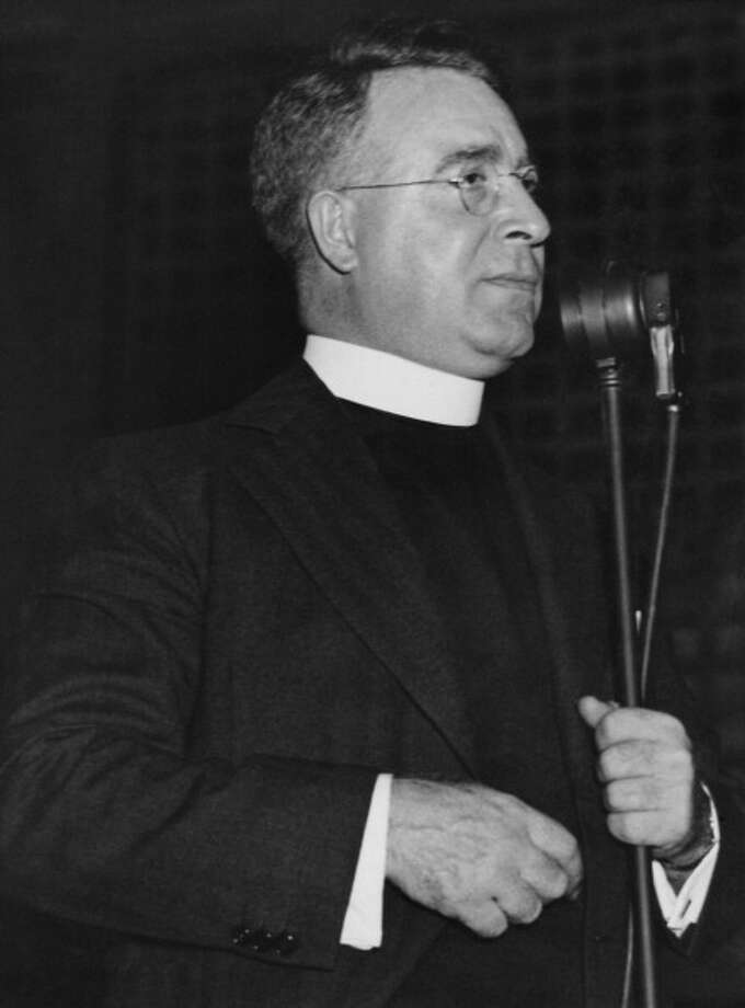 Roman Catholic priest and broadcaster Charles Coughlin (1891 - 1979) in Springfield, Massachusetts, circa 1940.  A radio demagogue before that was the norm. Photo: Archive Photos, Getty Images / 2011 Getty Images