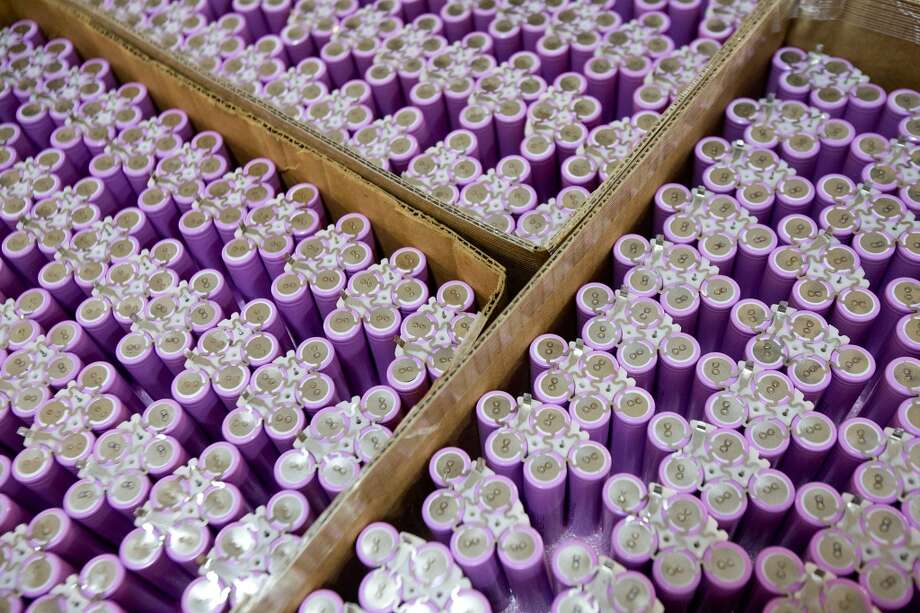 Lithium Ion Batteries that are made at the Fairfiled Nodal facility are rechargeable batteries that are used in the seismic equipment being manufactured at Fairfield Nodal's facility in Sugar Land, Texas. The equipment is used by oil companies to scan for oil fields under the ocean floor. Photo: Thomas B. Shea, For The Chronicle