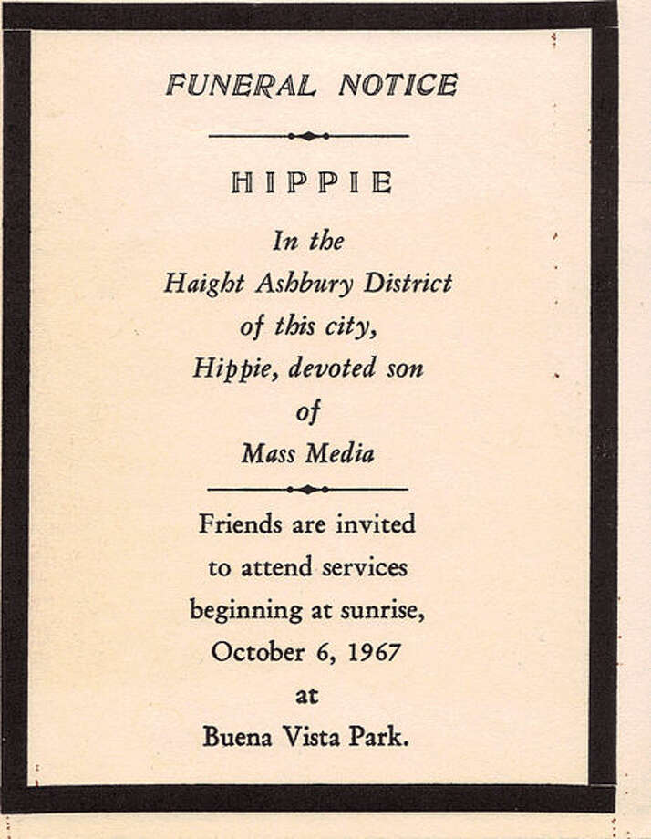 Attended the Hippie Funeral at Buena Vista Park in October of '67. Photo: Wikimedia Commons