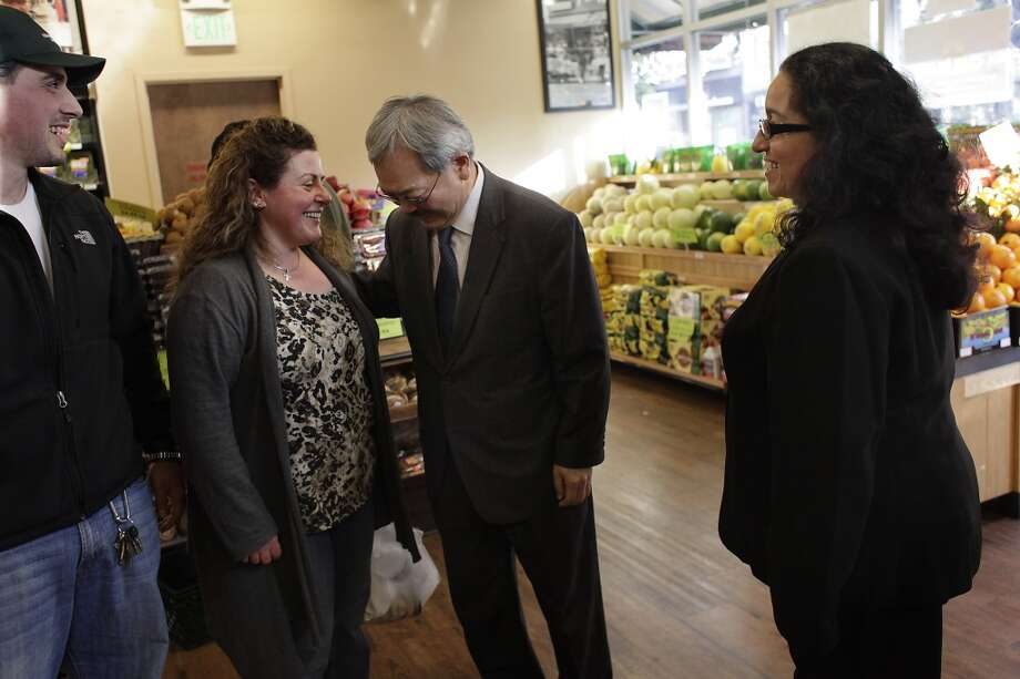 You call Haight Street Market just Gus'. (Mayor Ed Lee pays a visit to the market in 2012) Photo: Lea Suzuki, The Chronicle