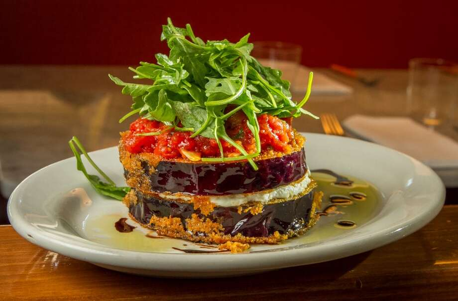 Eggplant with Goat Cheese and Tomato Ragu Photo: John Storey, Special To The Chronicle