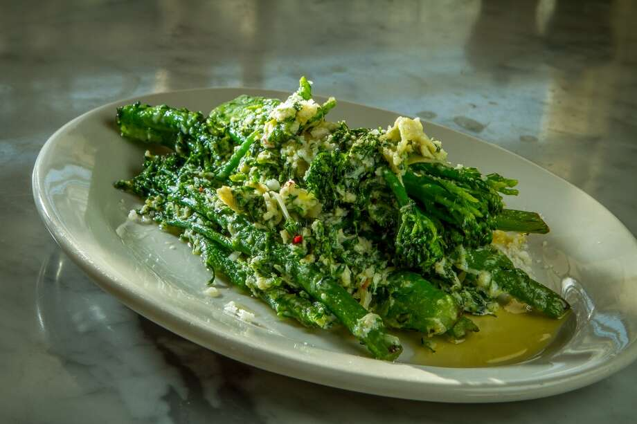 Broccolini con l'uovo at Photo: John Storey, Special To The Chronicle