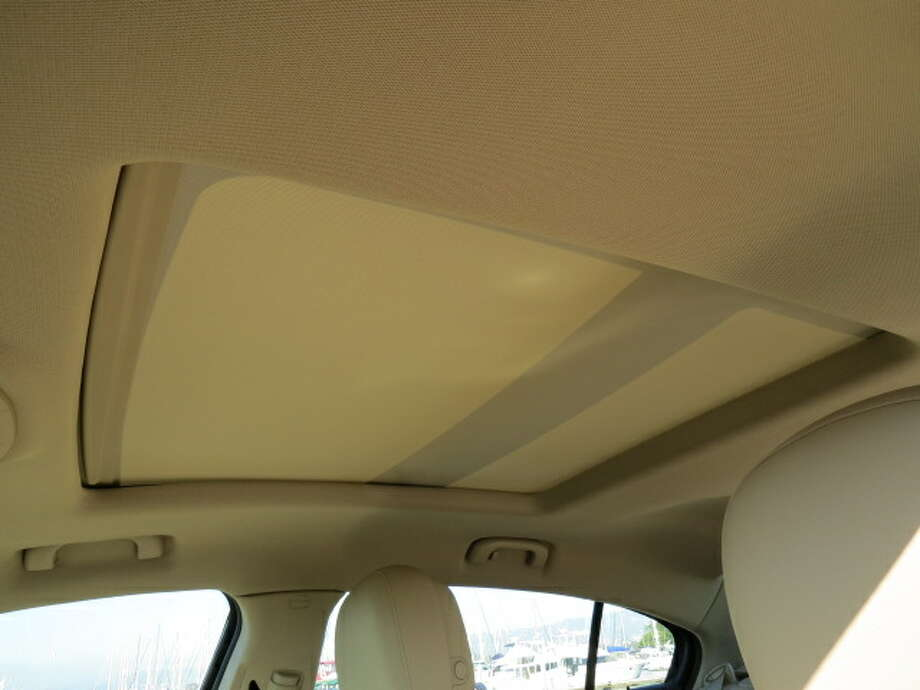 When the sunroof is closed, light still comes in, through a translucent screen that covers the glass panels.