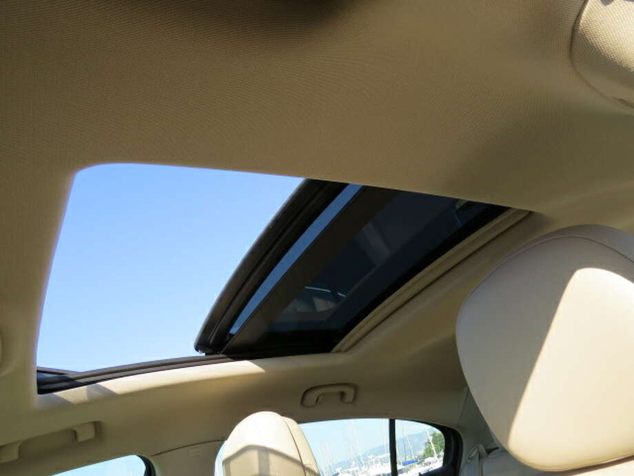 The LaCrosse has a nifty glass sunroof that goes up and over a rear glass sunroof, and the requisite audo/Bluetooth/navigation system without which no car dare show its face in a showroom these days.