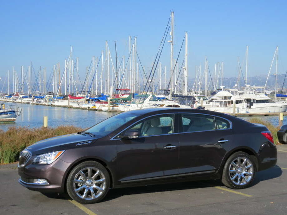 The 2014 Buick LaCrosse is Buick's topline sedan. This optioned-up all-wheel-drive version sells for a bit north of $45,000, a sum that puts it in the crowded niche of midsize luxury cars.  (All photos by Michael Taylor)