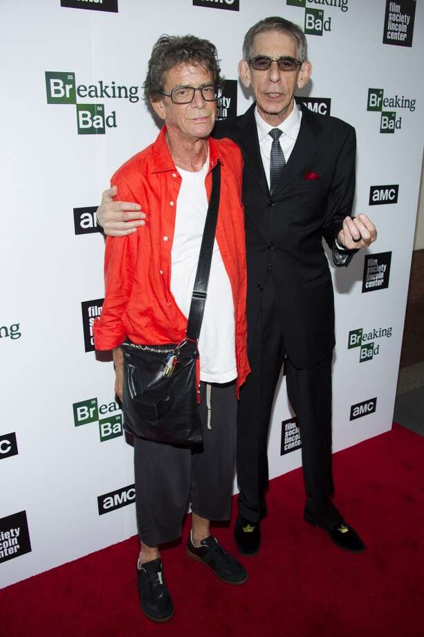 "Lou Reed, left, and Richard Belzer attend the ""Breaking Bad"" final episodes premiere hosted by the Film Society of Lincoln Center on Wednesday, July 31, 2013, in New York. (Photo by Charles Sykes/Invision/AP) ORG XMIT: NYCS105 Photo: AP"