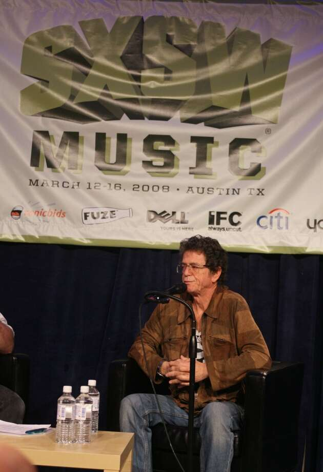 Musician Lou Reed gives the keynote at the SXSW Music Conference in Austin, Texas on Thursday, March 13, 2008. (AP Photo/Jack Plunkett) Photo: AP