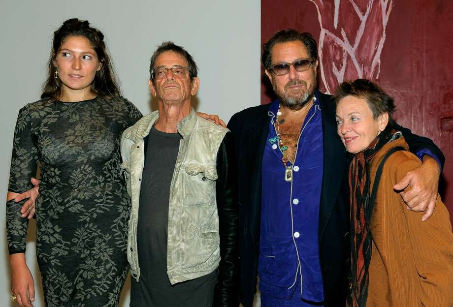 "TORONTO, ON - SEPTEMBER 13:  (L-R) Actress Stella Schnabel, musician Lou Reed, director/artist Julian Schnabel and musician Laurie Anderson attend The Weinstein and Alliance Pictures Party for ""Miral"" hosted by TOD'S held at the Art Gallery of Toronto during the 2010 Toronto International Film Festival on September 13, 2010 in Toronto, Canada.  (Photo by Charley Gallay/Getty Images for TOD's) Photo: Getty Images For TOD's"