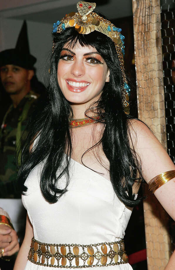 Actress Anne Hathaway attends Heidi Klum's 5th Annual Halloween party at Marquee on October 31, 2004 in New York City. Photo: Evan Agostini, Getty Images / 2004 Getty Images