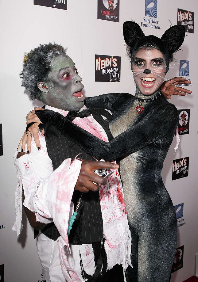 James Samuel and model Heidi Klum arrive at Heidi's Halloween Party at The Green Door on October 31, 2007 in Hollywood, California. Photo: Jesse Grant, WireImage / 2007 Jesse Grant