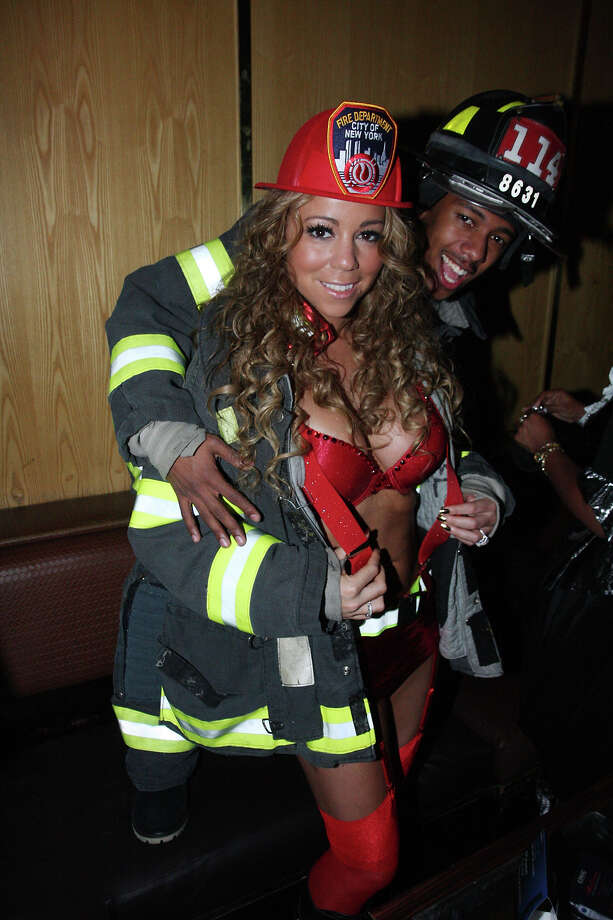 Mariah Carey and Nick Cannon attend the 2008 Halloween Party At Marquee. Photo: Johnny Nunez, WireImage / WireImage