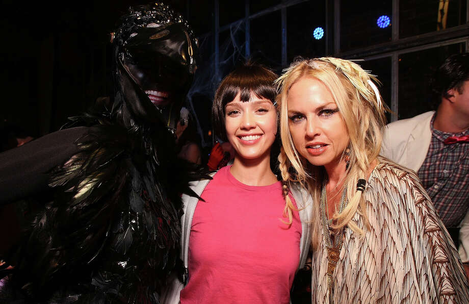 (L-R) Model Heidi Klum, actress Jessica Alba and stylist Rachel Zoe attend Heidi Klum?s 10th Annual Halloween Party Presented by MSN and SKYY Vodka held at the Voyeur on October 31, 2009 in West Hollywood, California. Photo: Alexandra Wyman, WireImage / 2009 WireImage