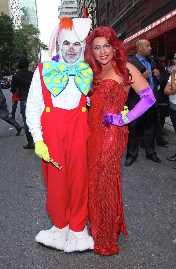 "Television personality Rachael Ray (R) and husband John Cusimano attend the taping of the ""Rachael Ray"" Halloween episode in front of the Rachael Ray Show Studio on October 6, 2010 in New York City. Photo: Mike Coppola, FilmMagic / 2010 Mike Coppola"