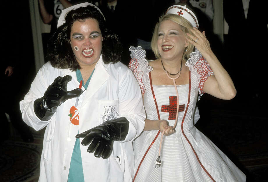 Rosie O'Donnell and Bette Midler during Bette Midler's 2nd Annual Halloween Ball for New York Restoration Project at Waldorf Astoria in New York City, New York, United States. Photo: Ron Galella, WireImage / Ron Galella Collection