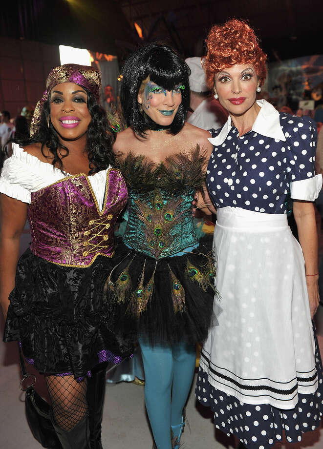 Niecy Nash, Tori Spelling, and Lisa Rinna attend the 17th Annual Dream Halloween at Barker Hangar on October 30, 2010 in Santa Monica, California. Photo: John Shearer, WireImage / 2010 WireImage