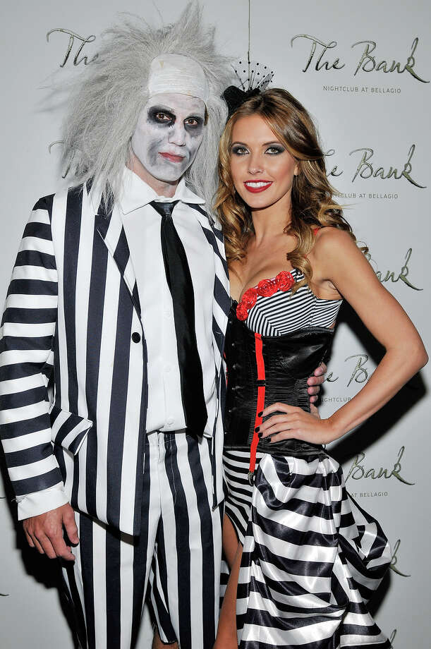 Audrina Patridge (R) and Corey Bohan attend a Halloween party at The Bank Nightclub at the Bellagio on October 30, 2010 in Las Vegas, Nevada. Photo: David Becker, WireImage / 2010 WireImage