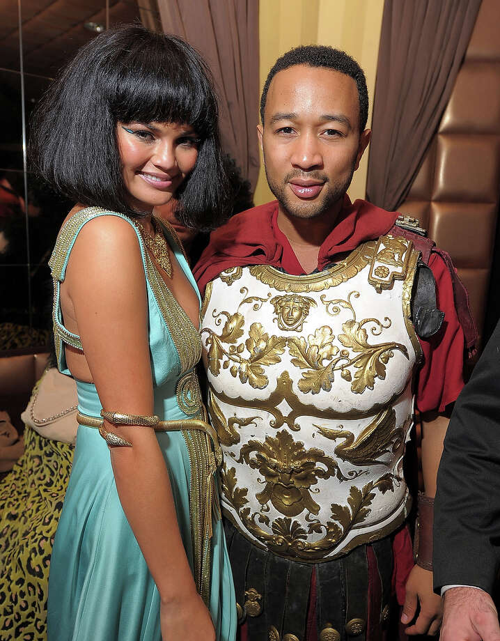 Model Christine Teigen and musician John Legend attend the Heidi Klum's Halloween Party presented by AOL and Absolut Vodka at Lavo on October 31, 2010 in New York City. Photo: Michael Loccisano, WireImage / WireImage