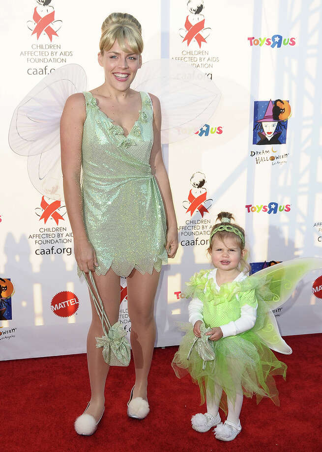 Busy Philipps and daughter Birdie Silverstein attend CAAF's 17th annual Dream Halloween at Barker Hangar on October 30, 2010 in Santa Monica, California. Photo: Jason LaVeris, FilmMagic / 2010 Jason LaVeris