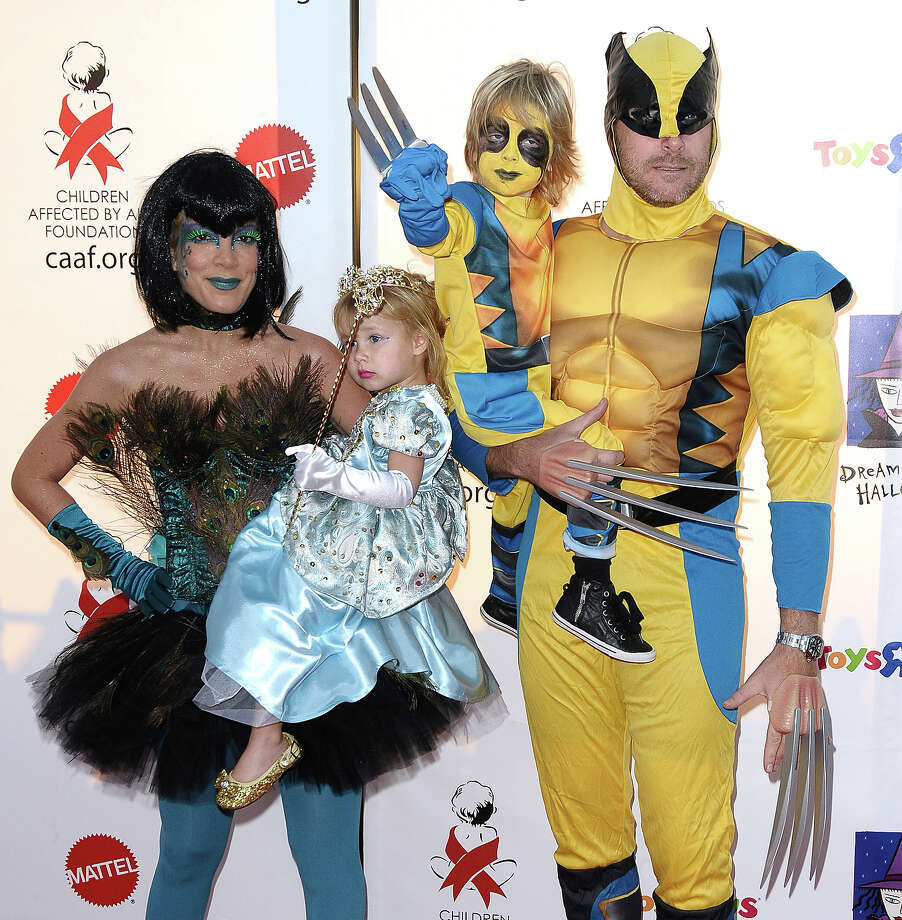 Tori Spelling and Dean McDermott with children Stella McDermott and Liam McDermott attend CAAF's 17th annual Dream Halloween at Barker Hangar on October 30, 2010 in Santa Monica, California. Photo: Jason LaVeris, FilmMagic / 2010 Jason LaVeris