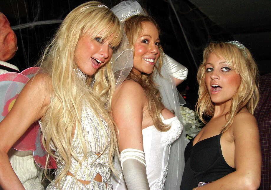 Paris Hilton, Mariah Carey and Nicole Richie during Mariah Carey's Annual Halloween Party with Martell Cognac at Cain in New York City, New York, United States. Photo: Johnny Nunez, WireImage / WireImage
