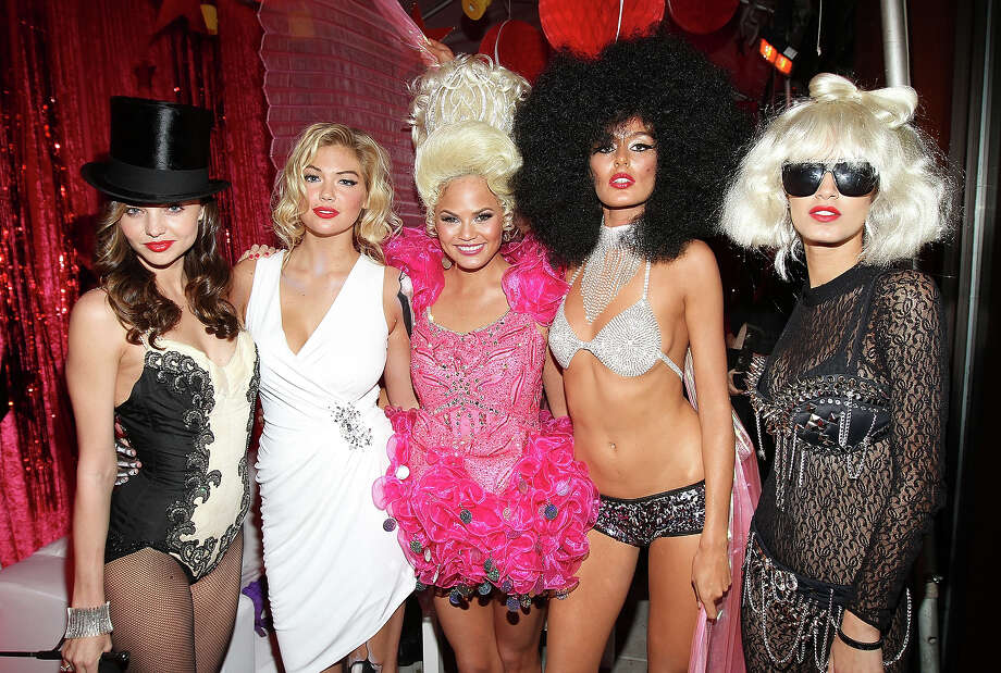 Miranda Kerr, Kate Upton, Christine Teigen, Nicole Trunfino and Jaslene Gonzalez attends Miranda Kerr's Sexy Circus Halloween Party at Catch Rooftop on October 31, 2011 in New York City. Photo: Jerritt Clark, WireImage / 2011 Jerritt Clark