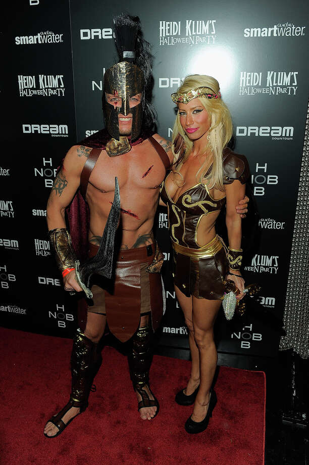 Jamie McCarthy and Lori Levine attend Heidi Klum's 12th annual Halloween party at the PH-D Rooftop Lounge at Dream Downtown on October 31, 2011 in New York City. Photo: Jemal Countess, Getty Images / 2011 Getty Images