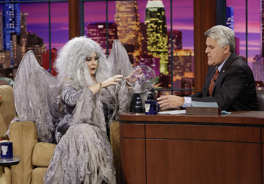 Actress Roseanne Barr in costume during an interview with host Jay Leno on October 31, 2006. Photo: NBC, NBC Via Getty Images / © NBC Universal, Inc.