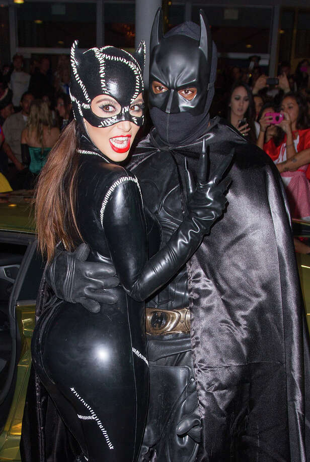 Kim Kardashian and Kanye West arrive at Kim Kardashian's Halloween party at LIV nightclub at Fontainebleau Miami on October 31, 2012 in Miami Beach, Florida. Photo: John Parra, WireImage / 2012 John Parra