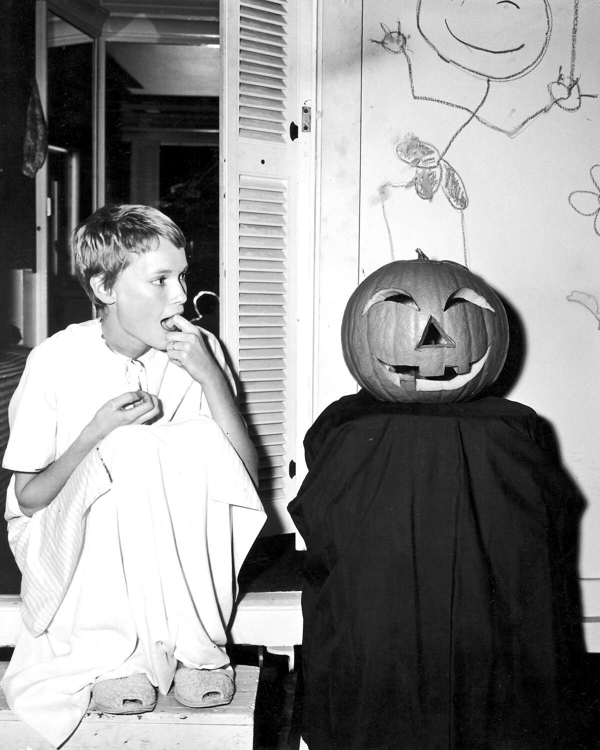 Halloween is big business in Hollywood, with hostesses like Heidi Klum going all out on extravagant costumes, eclipsing the Halloween of yesteryear, shown here with Mia Farrow in 1970. Take a look at some of Hollywood wildest Halloween parties: