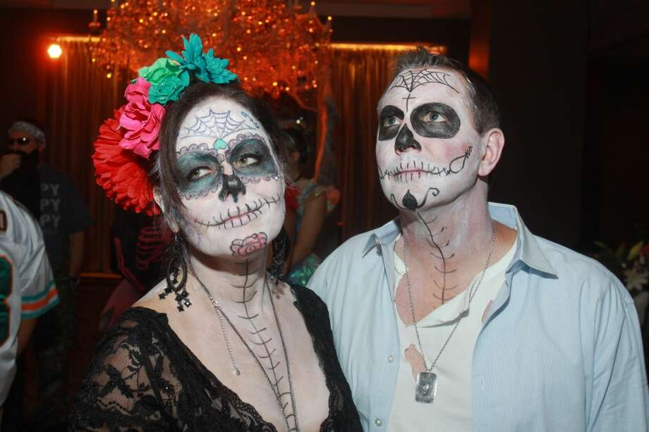 Karin Beale and Chris Stokes at the Bone Bash Photo: Gary Fountain, For The Chronicle