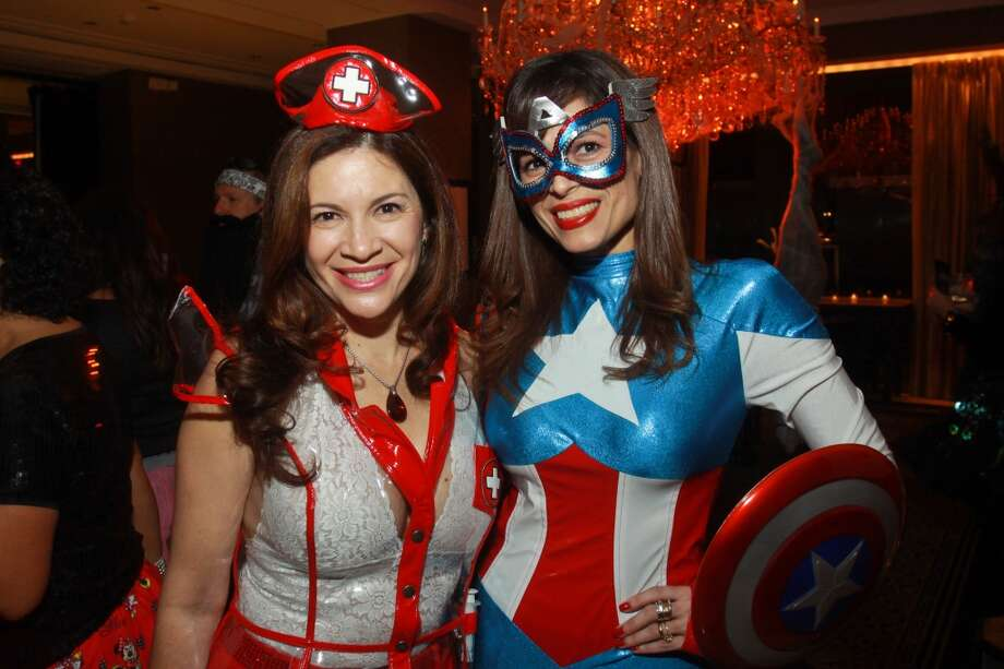 Alex Blair, left, and Karina Barbieri at the Bone Bash Photo: Gary Fountain, For The Chronicle