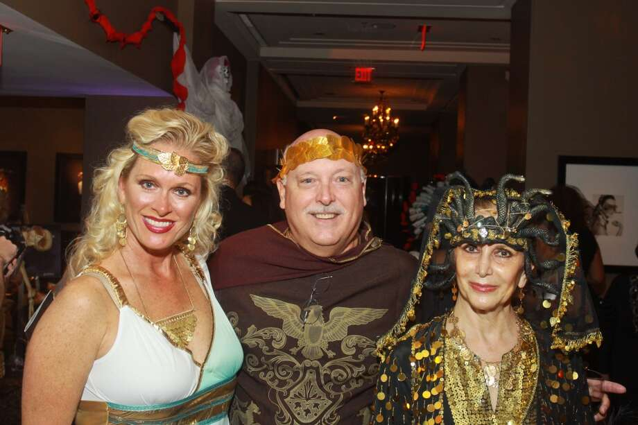 Lauren and Frank Lush, from left, with Shahla Rejaie at the Bone Bash Photo: Gary Fountain, For The Chronicle