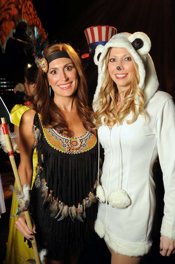 Kendra Helms and Stephanie Gonzales at the Saints and Sinners party Photo: Dave Rossman, For The Houston Chronicle