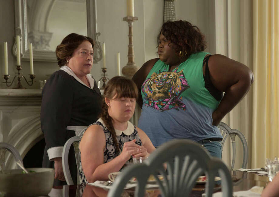 "Kathy Bares as Madame LaLaurie, Jamie Brewer as Nan, Gabourey Sidibe as Queenie in ""American Horror Story: Coven"" on FX. Photo: Michele K. Short, FX"