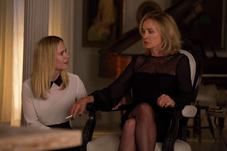 "Sarah Paulson as Cordelia, Jessica Lange as Fiona in ""American Horror Story: Coven."" Photo: Michele K. Short, FX"