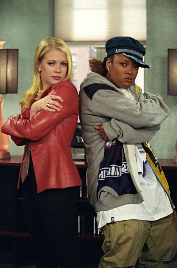 "Melissa Joan Hart as Sabrina Spellman, Da Brat as Baby K2K on ""Sabrina the Teenage Witch."" Photo: Danny Feld, The WB"