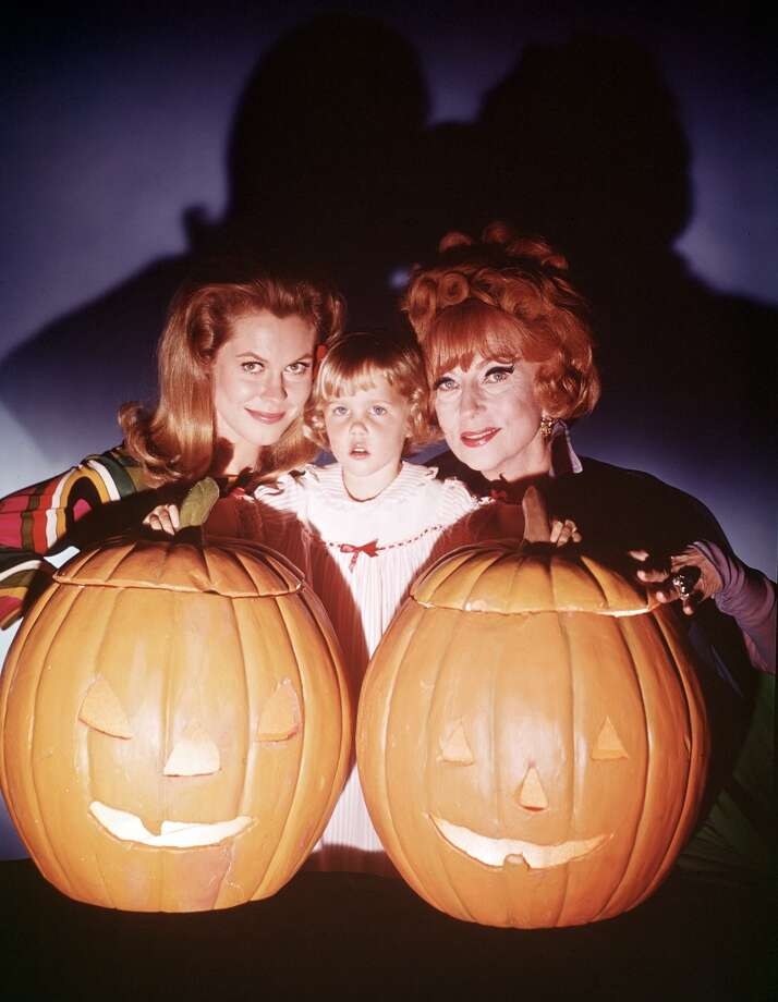 """Bewitched:"" Endora (Agnes Moorehead), Tabitha (Erin Murphy) and Samantha (Elizabeth Montgomery) celebrate Halloween. Photo: ABC Photo Archives, ABC Photo Archives/Getty Images"