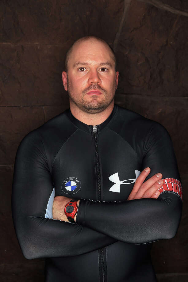 Bobsledder Steven Holcomb poses for a portrait during the USOC Media Summit ahead of the Sochi 2014 Winter Olympics on September 29, 2013 in Park City, Utah. Photo: Doug Pensinger, Getty Images / 2013 Getty Images
