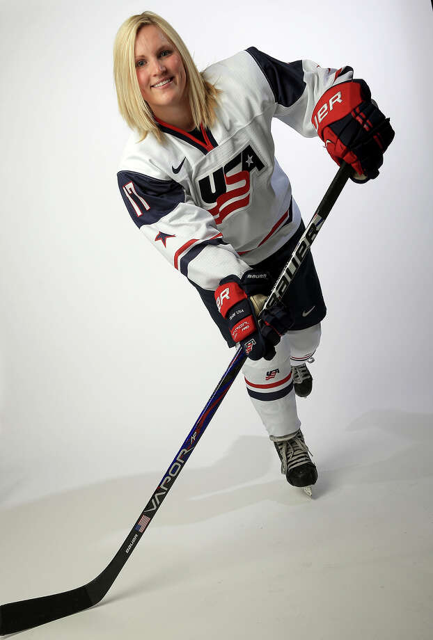 Ice Hockey player Jocelyne Lamoureux poses for a portrait during the USOC Media Summit ahead of the Sochi 2014 Winter Olympics on October 2, 2013 in Park City, Utah. Photo: Doug Pensinger, Getty Images / 2013 Getty Images