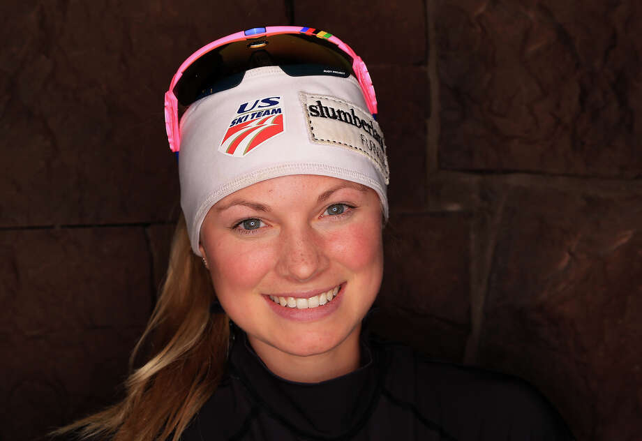 Cross-country skier Jessie Diggins poses for a portrait during the USOC Media Summit ahead of the Sochi 2014 Winter Olympics on October 2, 2013 in Park City, Utah. Photo: Doug Pensinger, Getty Images / 2013 Getty Images