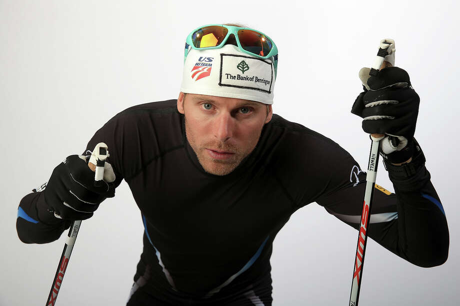 Cross-country skier Andy Newell poses for a portrait during the USOC Media Summit ahead of the Sochi 2014 Winter Olympics on October 2, 2013 in Park City, Utah. Photo: Doug Pensinger, Getty Images / 2013 Getty Images