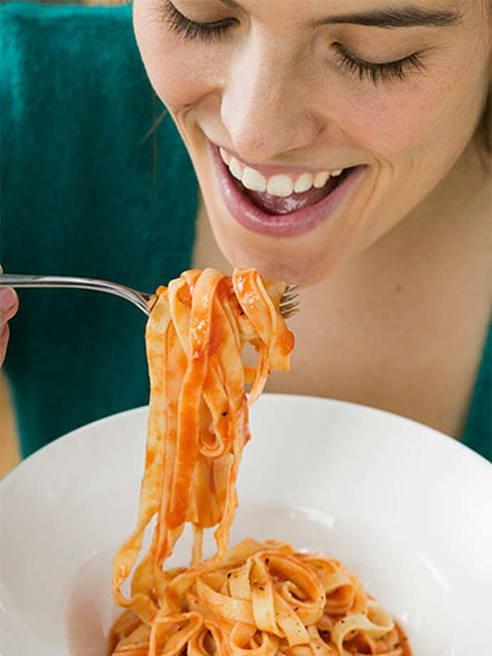 "You say tomato, I say tomatoGet on board with this: Pizza and spaghetti may be the latest wrinkle fighters! Though it sounds too good to be true, researchers discovered that participants who added five tablespoons of tomato paste to their daily diet scored 33 percent more protection against sunburn and higher levels of skin-firming procollagen than those who didn't. ""The red pigment in tomatoes known as lypocene is a powerful antioxidant that protects cells from DNA damage caused by sun exposure,"" says lead researcher Mark Birch-Machin. Cooked and processed tomatoes are more easily absorbed by your body, so try adding some canned tomatoes to your chili or thickening store-bought sauce with tomato paste. Photo: Foodcollection/Getty Images"