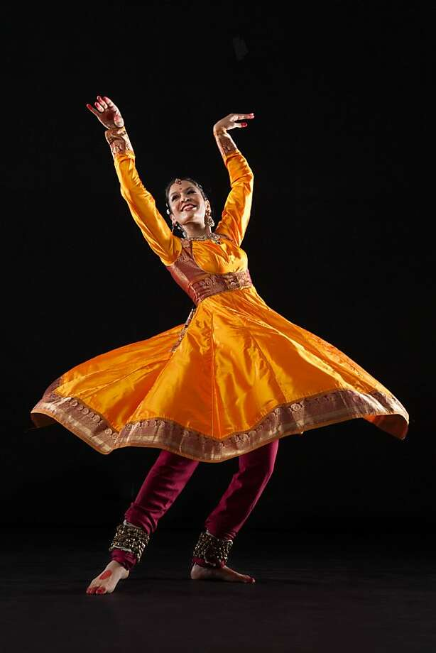 "Rachna Nivas of Chitresh Das Dance performs her own choreography in ""Bhakti."" Photo: Margo Moritz, Chitresh Das Dance Company"